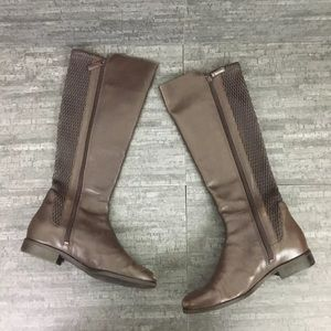 Cole Haan Rockland boots textured riding